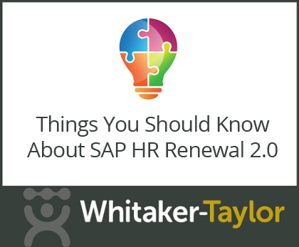Things you should know about SAP HR renewal 2.0