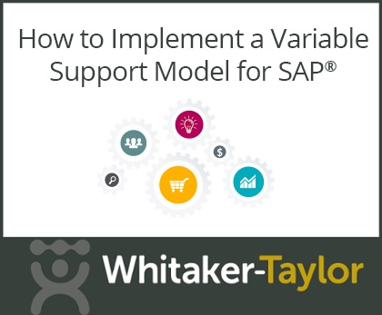 How to Implement a Variable Support Model for SAP